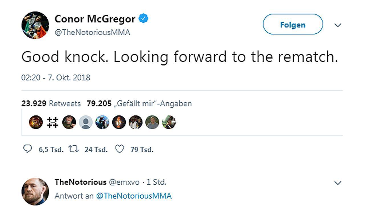 Netzreaktionen zum UFC-Fight Nurmagomedov vs. McGregor - Bildquelle: twitter@TheNotoriousMMA