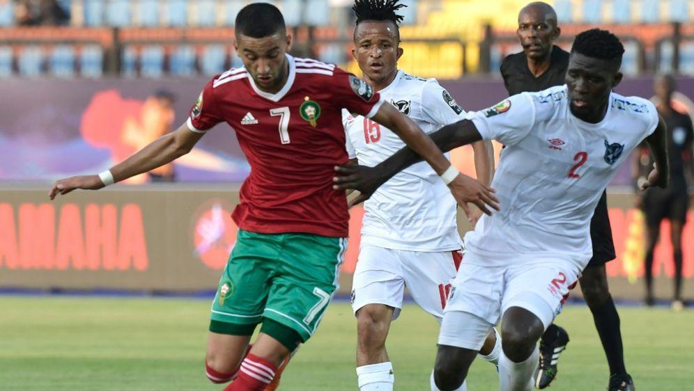 Marokko schlug Namibia durch ein spätes Eigentor - Bildquelle: AFPSIDJAVIER SORIANO