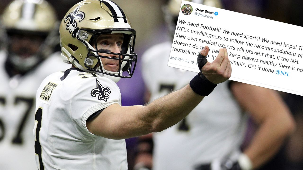 Drew Brees macht Ansage an die NFL - Bildquelle: 2020 Getty Images/Twitter@drewbrees