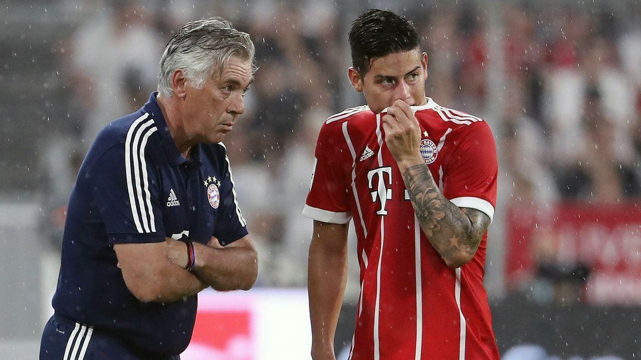 Carlo Ancelotti und James Rodriguez - Bildquelle: imago images / Jan Huebner