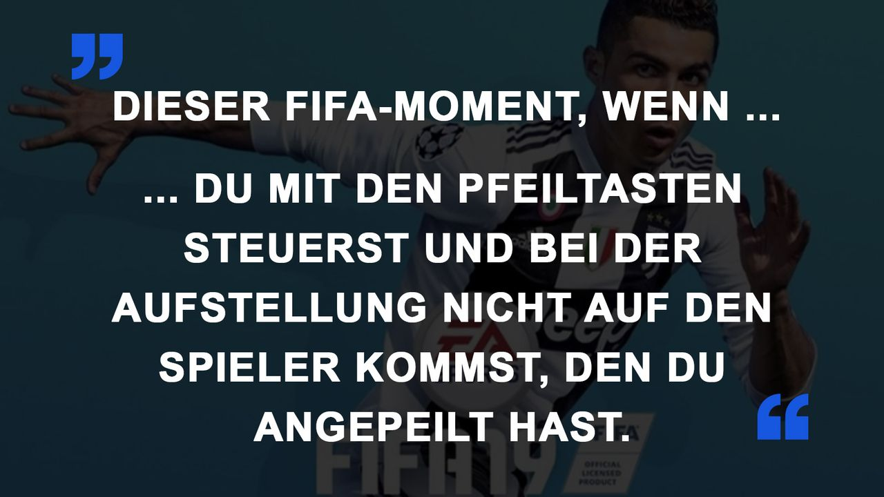 FIFA Momente Pfeiltasten