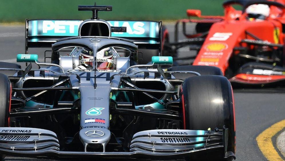 Hamilton (v.) war deutlich schneller als Vettel - Bildquelle: AFPSIDPETER PARKS