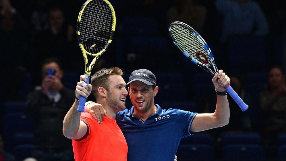 Das Duo Bryan/Sock gewann in London nun den Doppeltitel - Bildquelle: AFPSIDGLYN KIRK