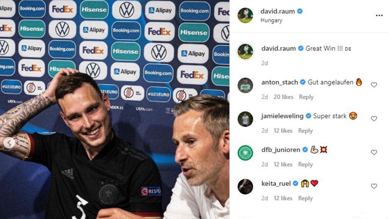 EM-Finale! Die Partybilder der deutschen U21 - Bildquelle: Instagram: David Raum