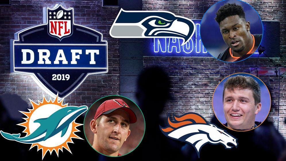 Josh Rosen, Drew Lock und D.K. Metcalf haben neue Heimat in der NFL - Bildquelle: Getty/imago