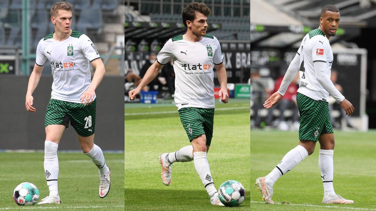 Matthias Ginter, Jonas Hofmann, Alassane Pléa (alle Borussia Mönchengladbach)  - Bildquelle: imago