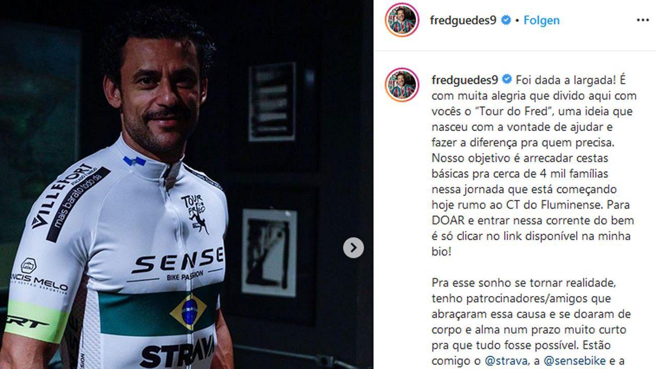 Brasilien-Stürmer Fred legt 600 Kilometer zum neuen Klub per Rad zurück - Bildquelle: Instagram/@fredguedes9