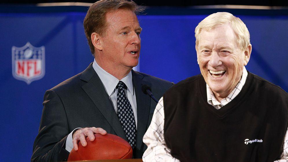 Zwei Männer, zwei Ligen: Während Roger Goodell (l.) als Commissioner der NFL... - Bildquelle: Getty Images