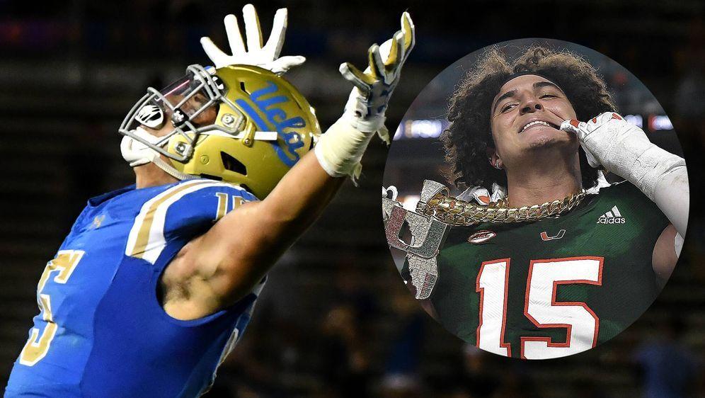 Jaelan Phillips musste bei UCLA seine Karriere beenden (Foto, links) und sta... - Bildquelle: imago/ZUMA Press