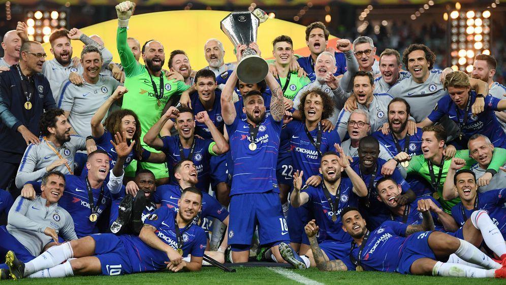Der FC Chelsea bejubelt den Sieg in der Europa League. - Bildquelle: 2019 Getty Images