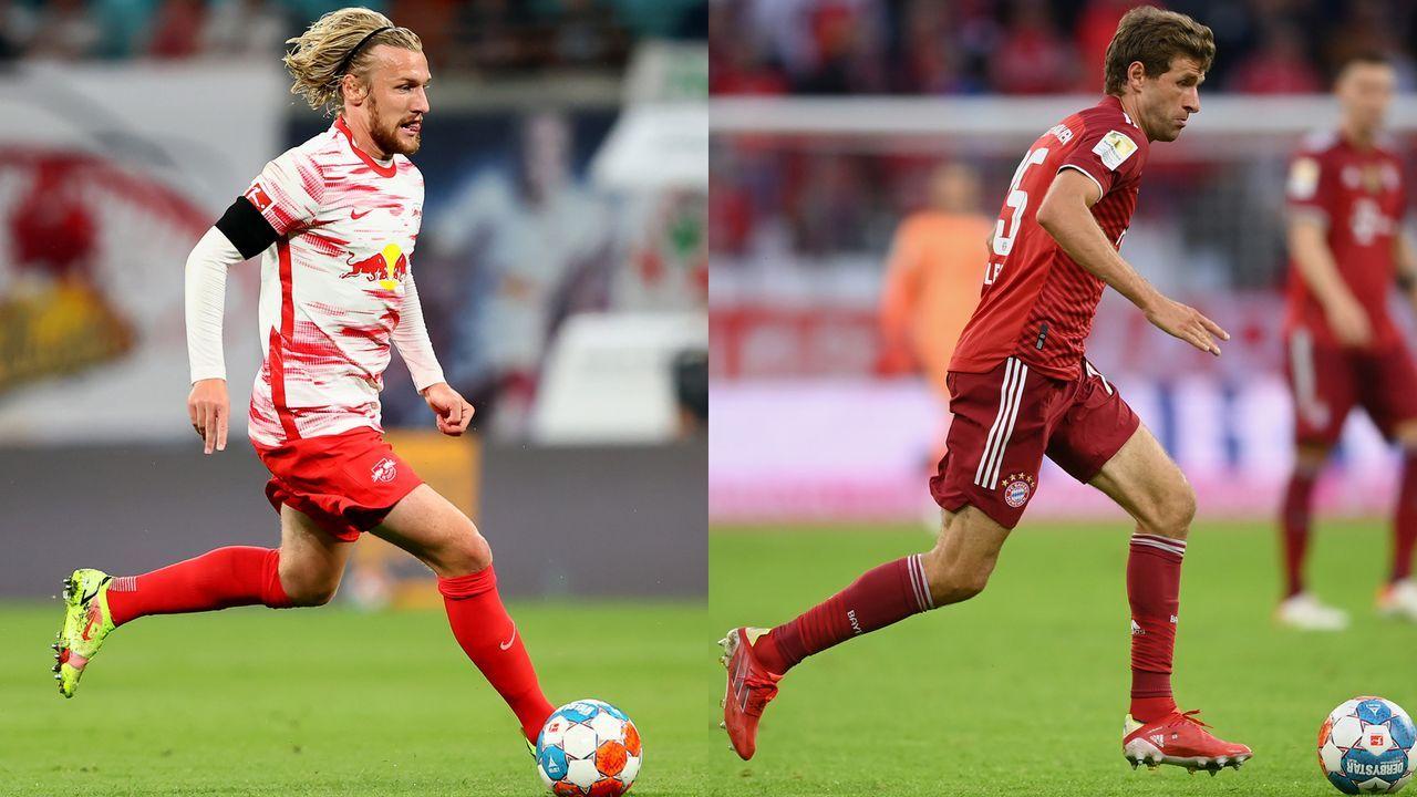 Emil Forsberg vs. Thomas Müller - Bildquelle: Getty Images