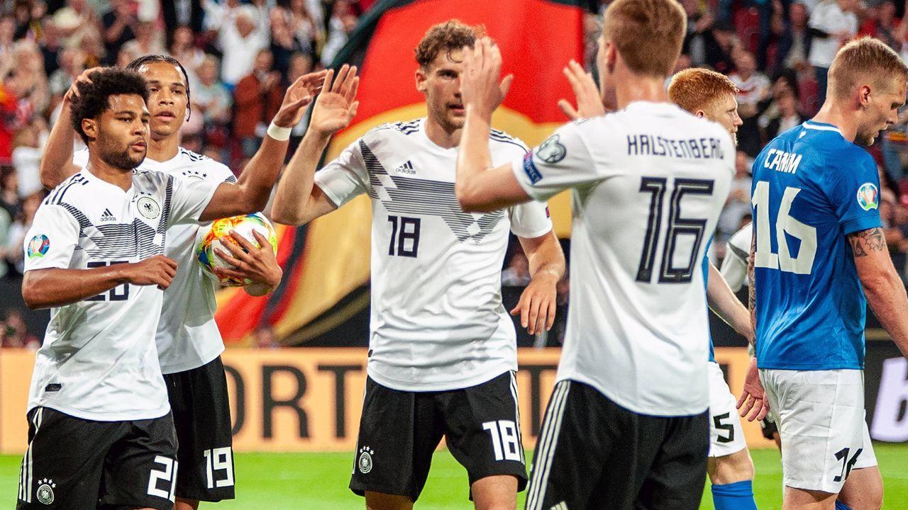 Deutschland gegen Estland 8:0 - Bildquelle: imago images / Hartenfelser