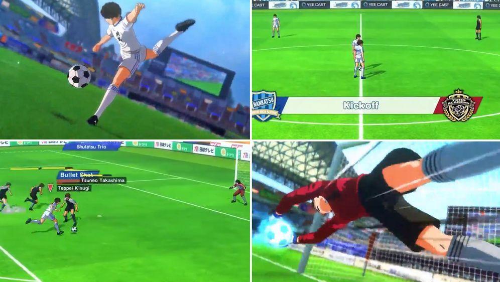 """""""Captain Tsubasa"""" wird ein actionreiches Spiel mit zahlreichen Spezialfähigk... - Bildquelle: Twitter: @CGInfernoBlast"""