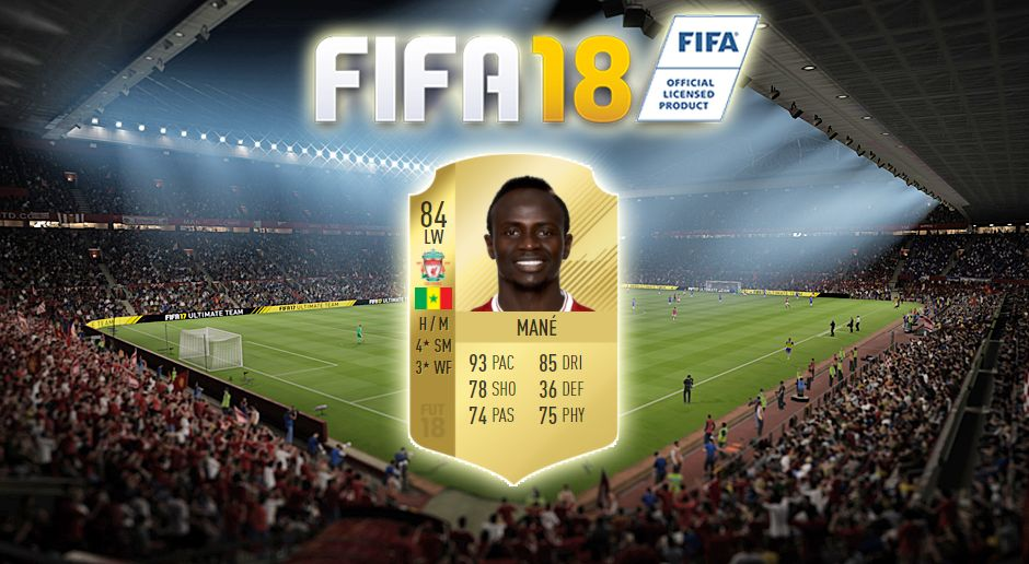 Platz 13: Sadio Mane (FC Liverpool) - Bildquelle: EA Sports