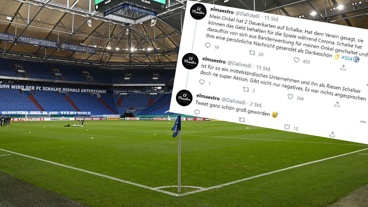 Schalke-Fan spendet Dauerkarte und bekommt Bandenwerbung geschenkt - Bildquelle: Getty Images/twitter.com/dallotelli
