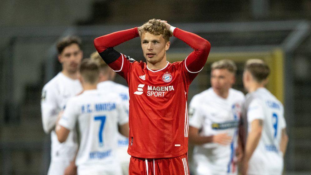 Kann am Sonntag bereits absteigen: Der FC Bayern II - Bildquelle: Imago