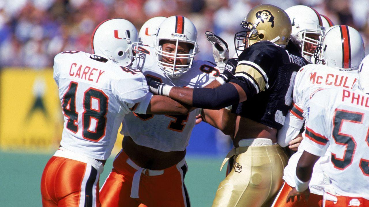 The Rock: Verletzungen prägten seine Zeit in Miami  - Bildquelle: 1994 Getty Images