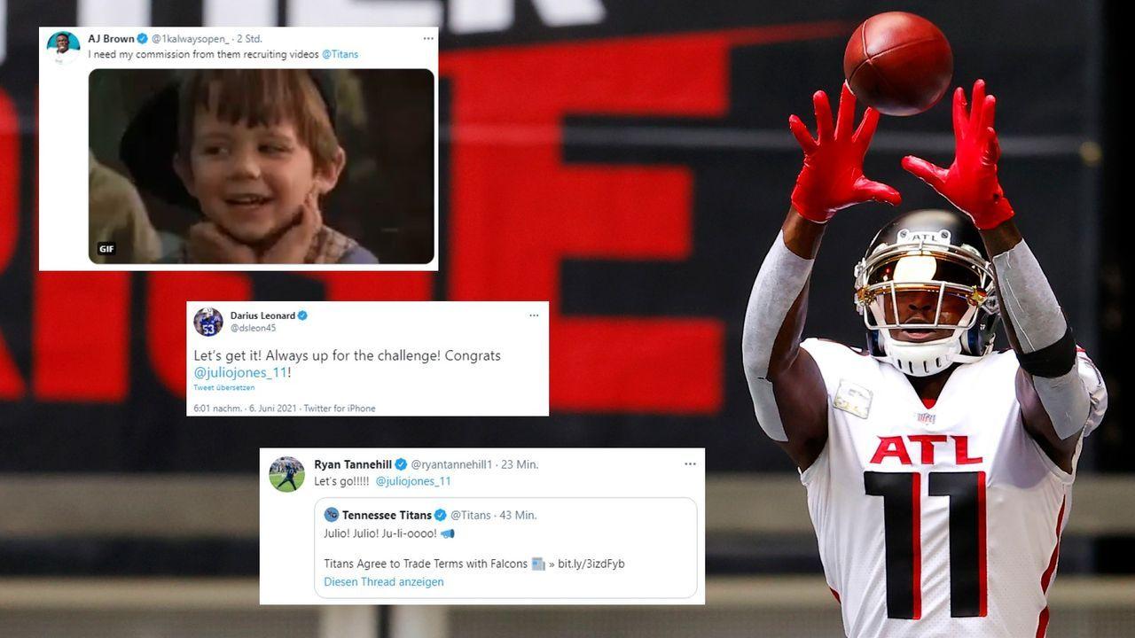 So reagiert die NFL auf den Jones-Trade - Bildquelle: Getty