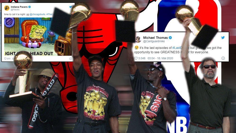 """Die Indiana Pacers und Michael Thomas reagierten unter anderem auf """"The Last... - Bildquelle: imago sportfotodienst"""