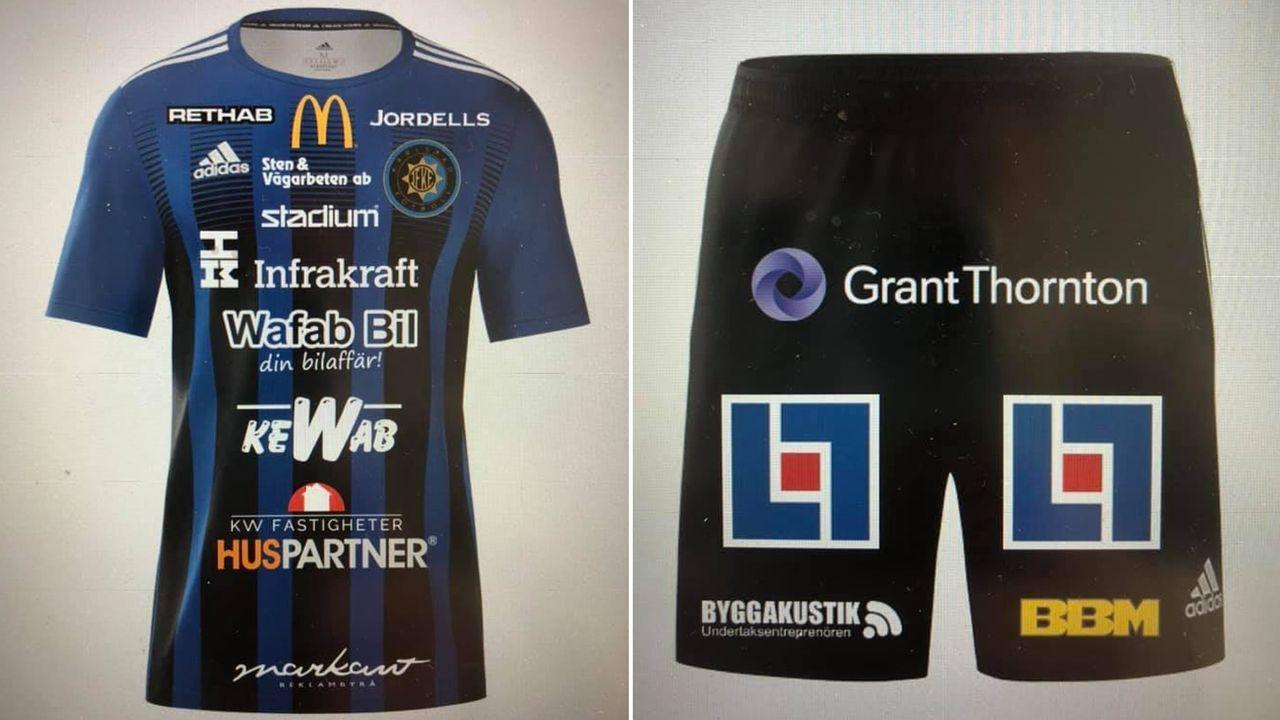 Vermarktung Level 9000: Schwedischer Klub packt 24 Sponsoren auf Trikot - Bildquelle: Twitter/@ifkarlstadfotboll