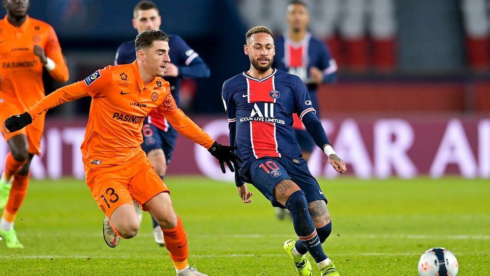 Neymar steuert beim Sieg gegen Montpellier einen Treffer bei. - Bildquelle: Imago Images