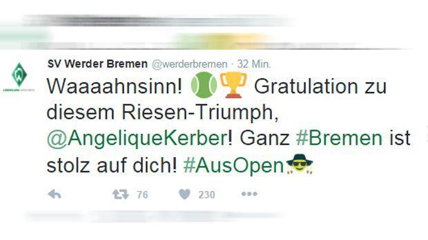 Werder Bremen Tweet - Bildquelle: twitter / @werderbremen