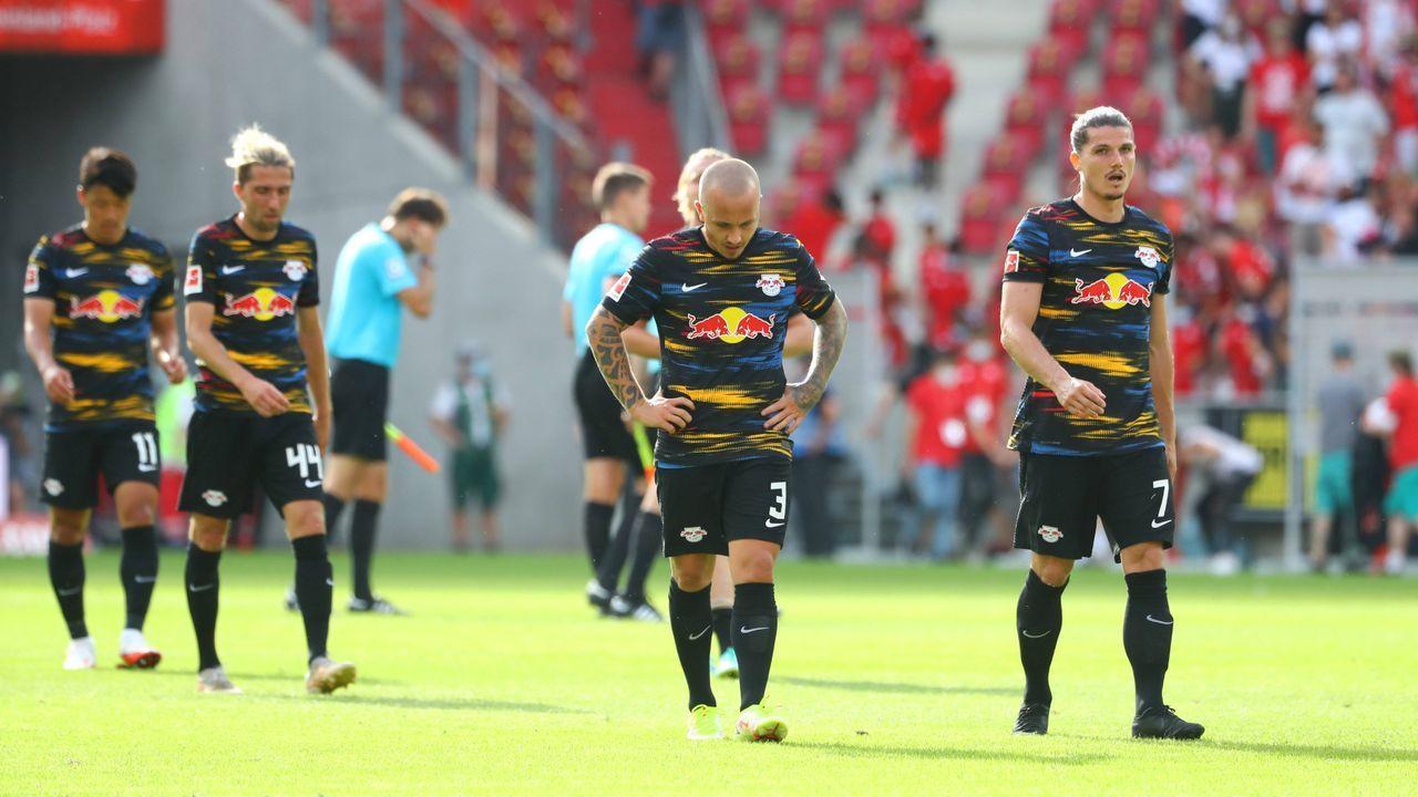 Verlierer: Die Offensive von RB Leipzig - Bildquelle: Imago