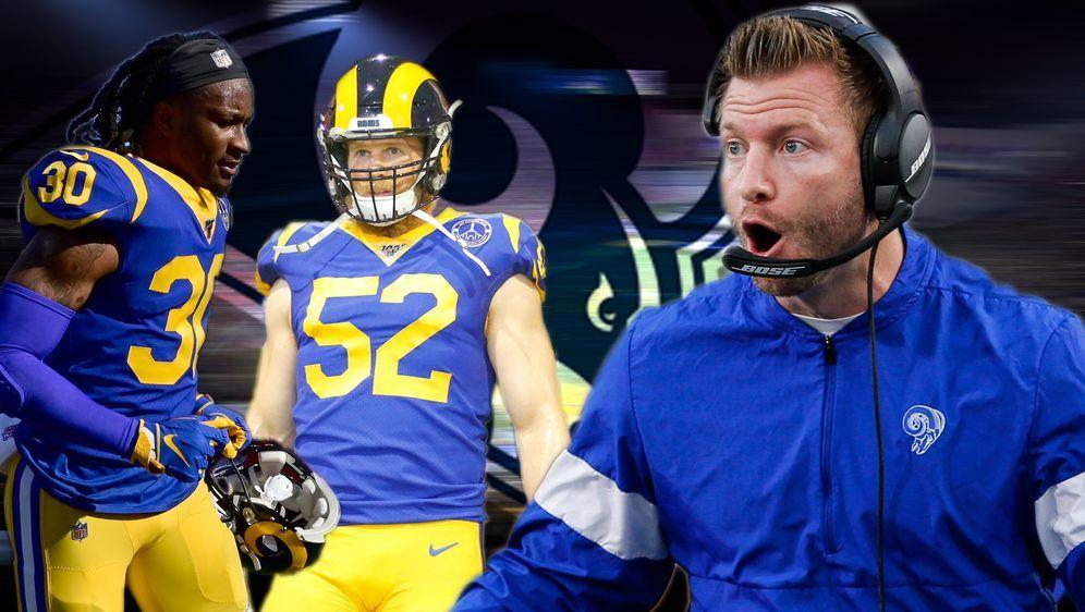 Den Los Angeles Rams und Head Coach Sean McVay (r.) steht ein Umbruch bevor - Bildquelle: 2019 Getty Images