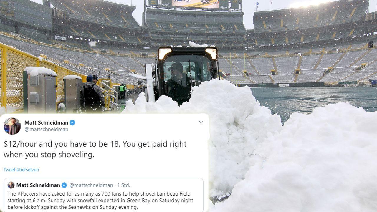Lambeau Field: Packers-Fans sollen Schneeschippen - Bildquelle: Getty Images
