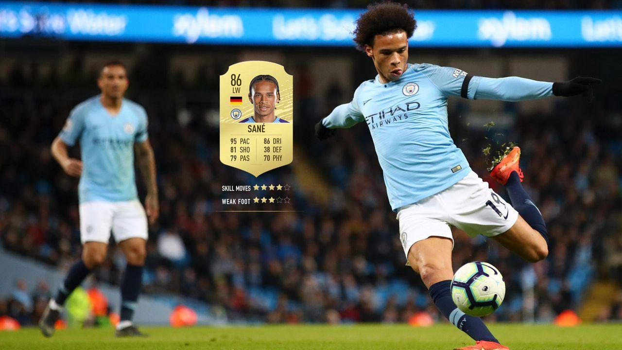 57. Leroy Sane (Manchester City)  - Bildquelle: 2019 Getty Images