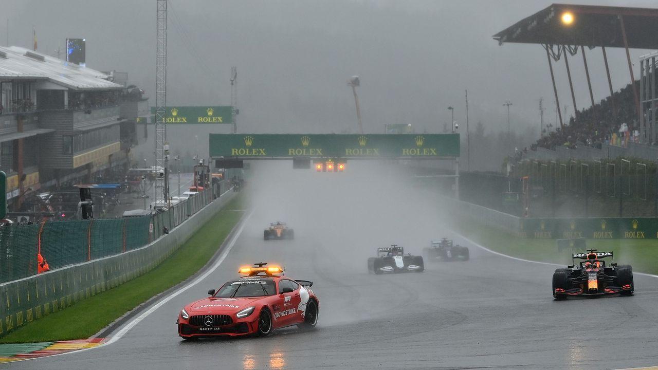 Spa-GP kürzestes Rennen aller Zeiten - Bildquelle: Getty