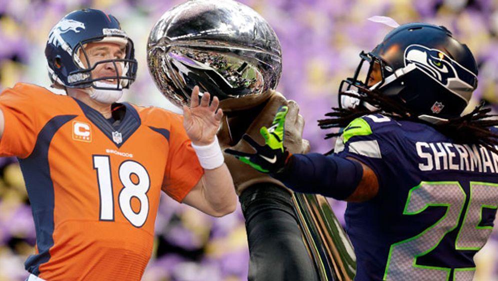 Peyton Manning (l.) und Richard Sherman sind die Superstars ihrer Teams - Bildquelle: getty/imago