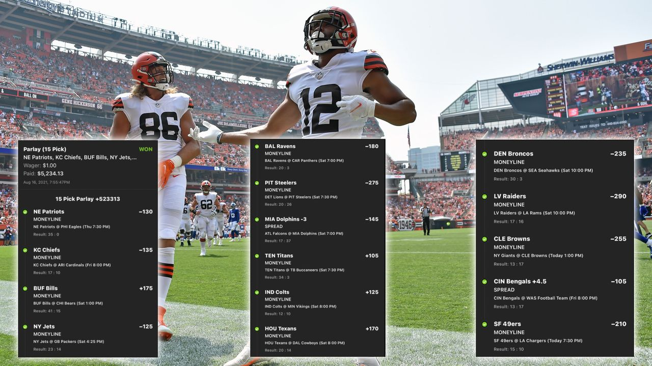 Ein Dollar Einsatz, 15 NFL Preseason-Games, über 5000 Dollar Gewinn - Bildquelle: Getty Images, Twitter/br_betting