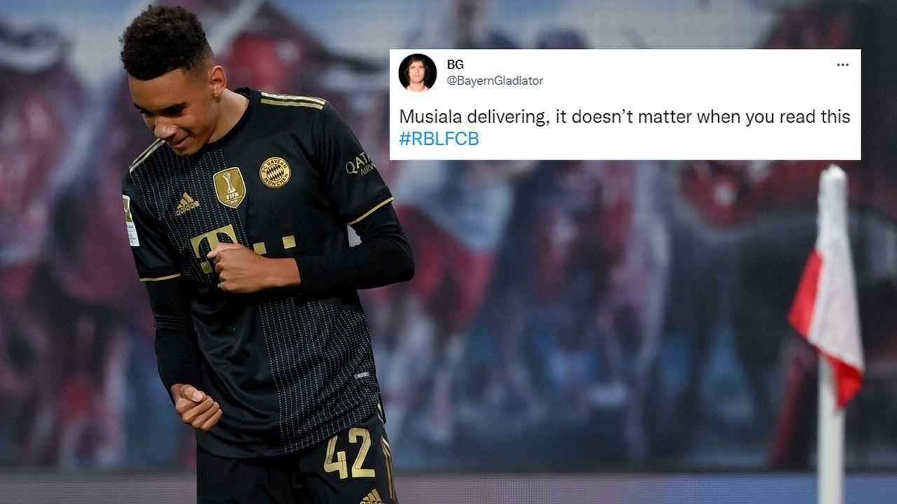Starker Auftritt von Musiala - Bildquelle: Getty Images/twitter@BayernGladiator