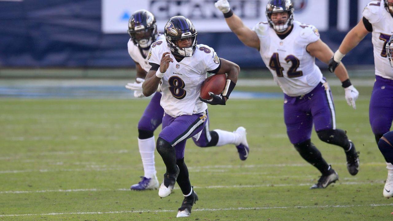Platz 4 - Baltimore Ravens - Bildquelle: 2021 Getty Images