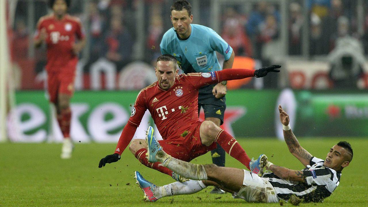 Ribery gegen Vidal (2013) - Bildquelle: imago/Xinhua