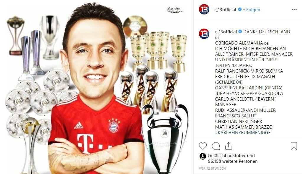Deutschland-Abschied: Rafinha dankt all seinen Trainern und Managern - nur Kovac nicht - Bildquelle: https://www.instagram.com/p/ByV3SwuFbLX