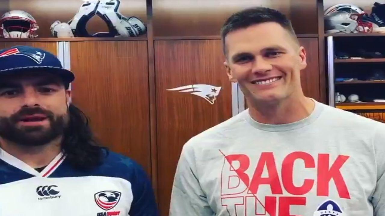 Tom Brady - Bildquelle: Twitter: NateEbner