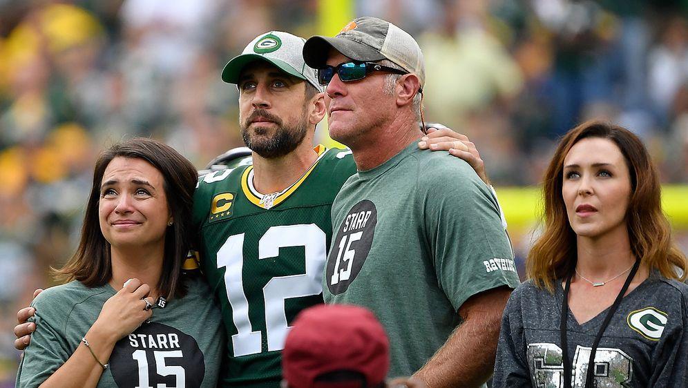 Zwei Packers-Legenden: Aaron Rodgers und Brett Favre. - Bildquelle: getty