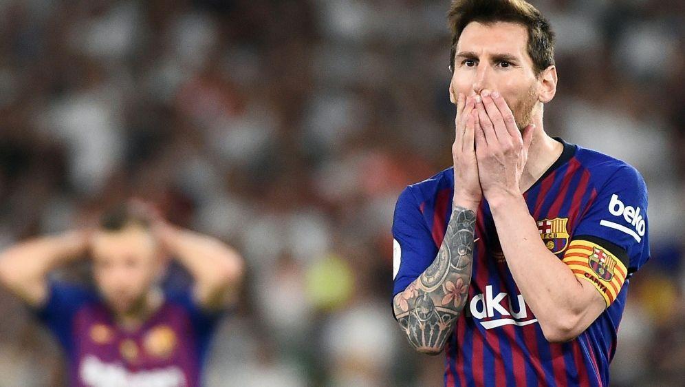 Messi verliert mit Barca das Pokalfinale gegen Valencia - Bildquelle: AFPSIDJOSE JORDAN