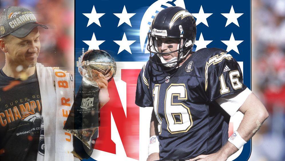 Während Peyton Manning (l.) in der NFL eine Trophäe nach der anderen gewann,... - Bildquelle: Getty Images