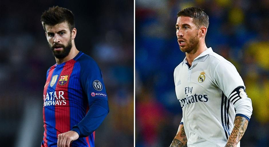 Gerard Pique vs. Sergio Ramos - Bildquelle: getty images