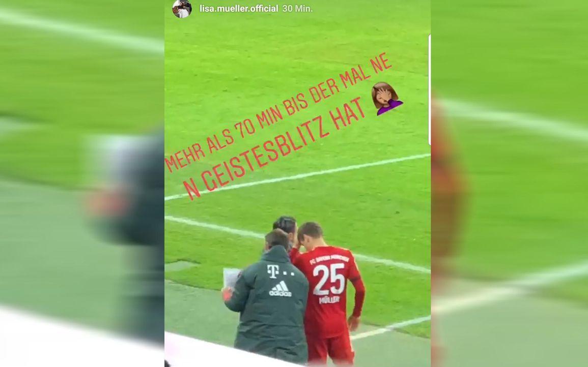 Thomas Müllers Ehefrau Lisa stichelt gegen Bayern-Coach Niko Kovac - Bildquelle: Instagram / @lisa.mueller.official