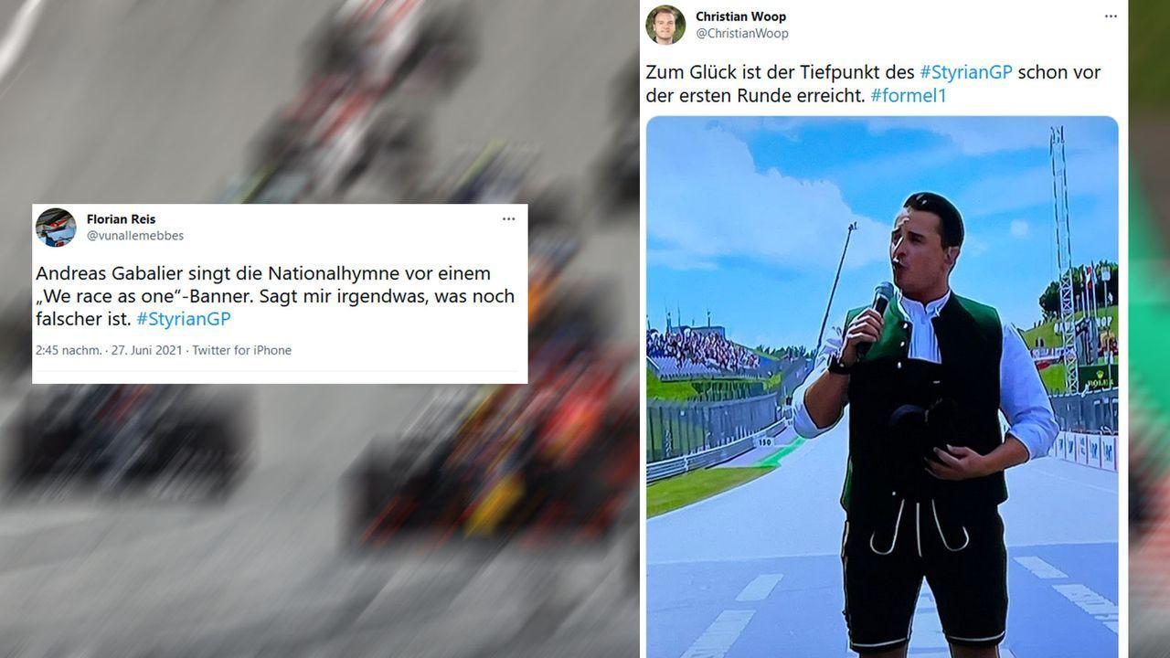 F1-Netzreaktionen: Gabaliers Gesangseinlage - Bildquelle: Getty Images, Twitter
