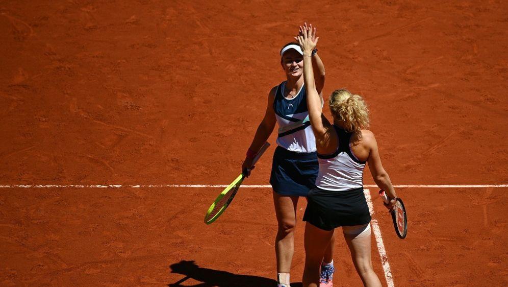 """Krejcikova gewinnt das """"Double"""" bei den French Open - Bildquelle: AFPSIDCHRISTOPHE ARCHAMBAULT"""