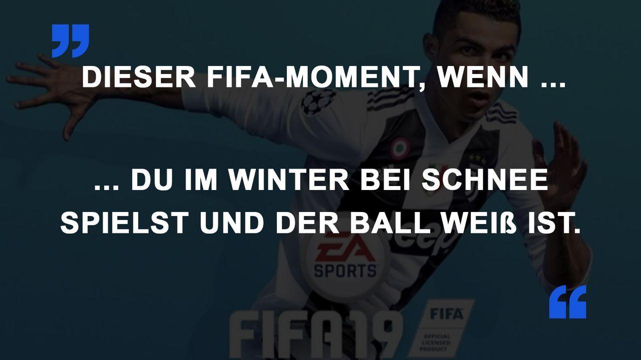 FIFA Momente Schnee