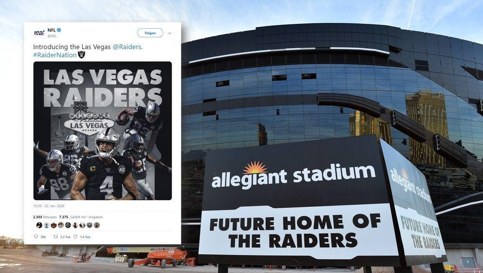 Allegiant Stadium: Das neue Zuhause der Raiders. - Bildquelle: imago/Twitter@NFL