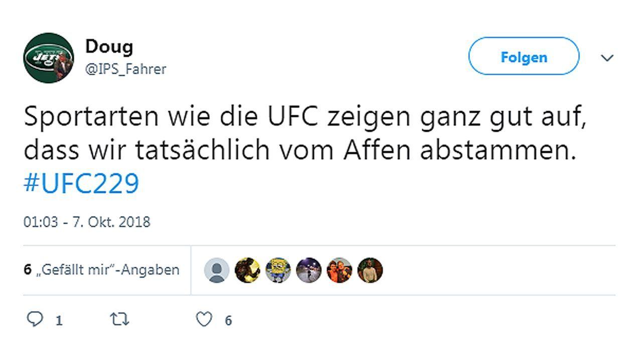 Netzreaktionen zum UFC-Fight Nurmagomedov vs. McGregor - Bildquelle: twitter@IPS_Fahrer