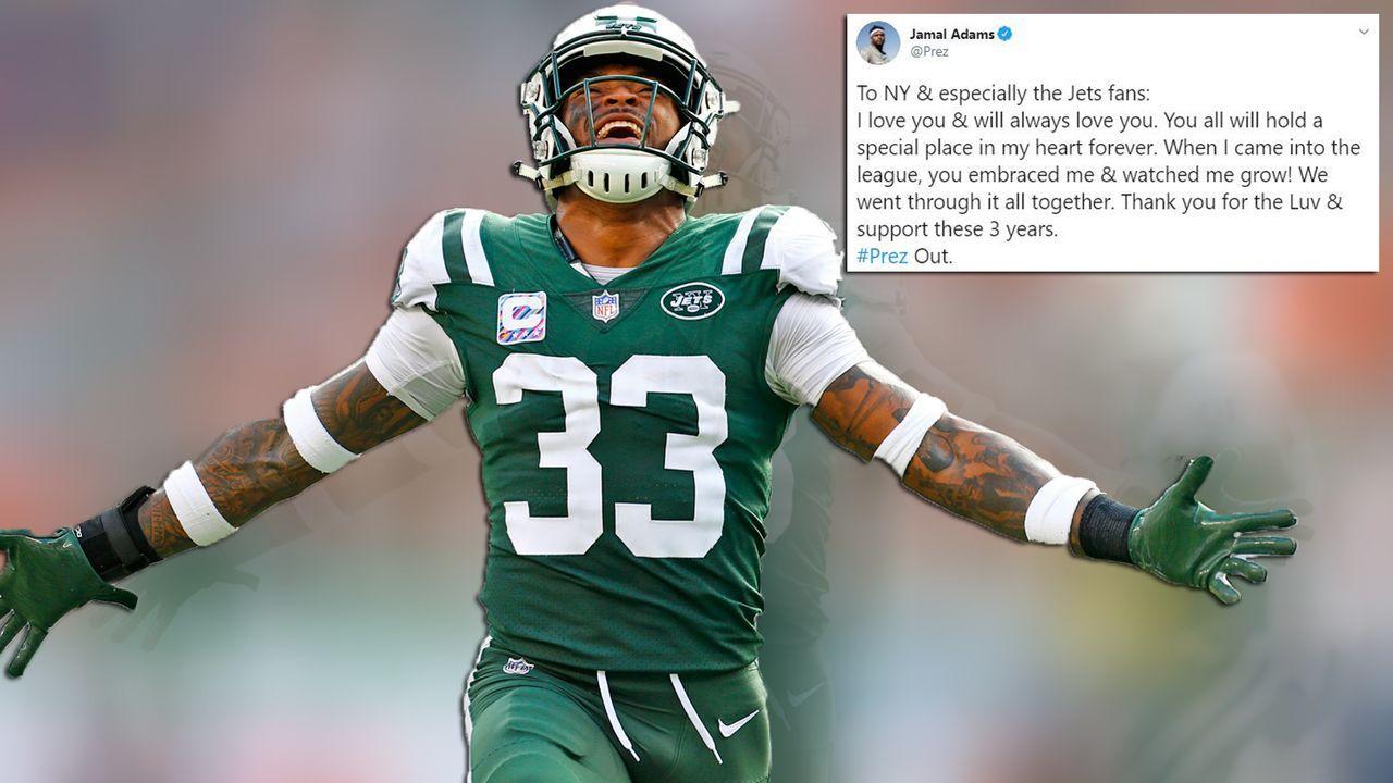 Zum Abschied: Adams mit Liebeserklärung an die Jets-Fans - Bildquelle: getty