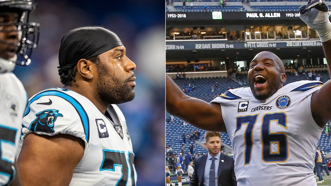 Trai Turner (Carolina Panthers) und Russell Okung (Los Angeles Chargers) - Bildquelle: Getty Images